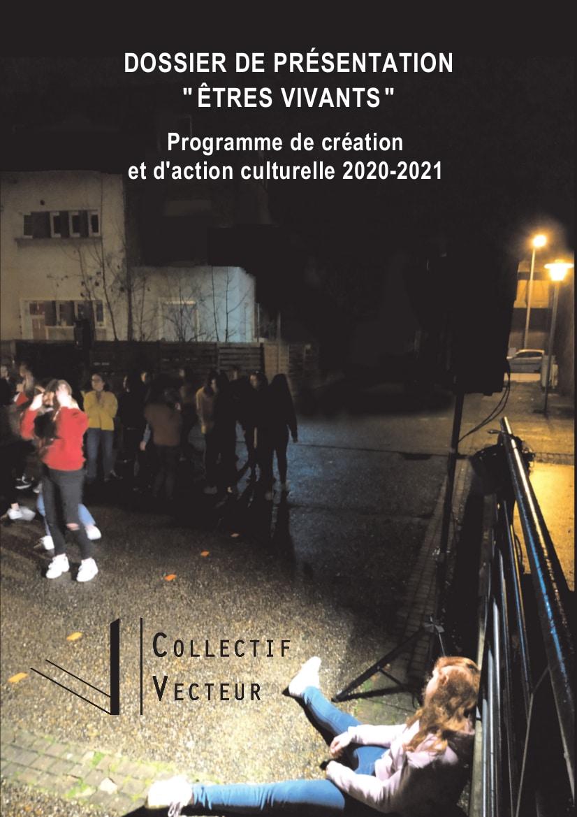couverture_Dossier de présentation_Êtres Vivants_collectif vecteur_louviers_danse_normandie