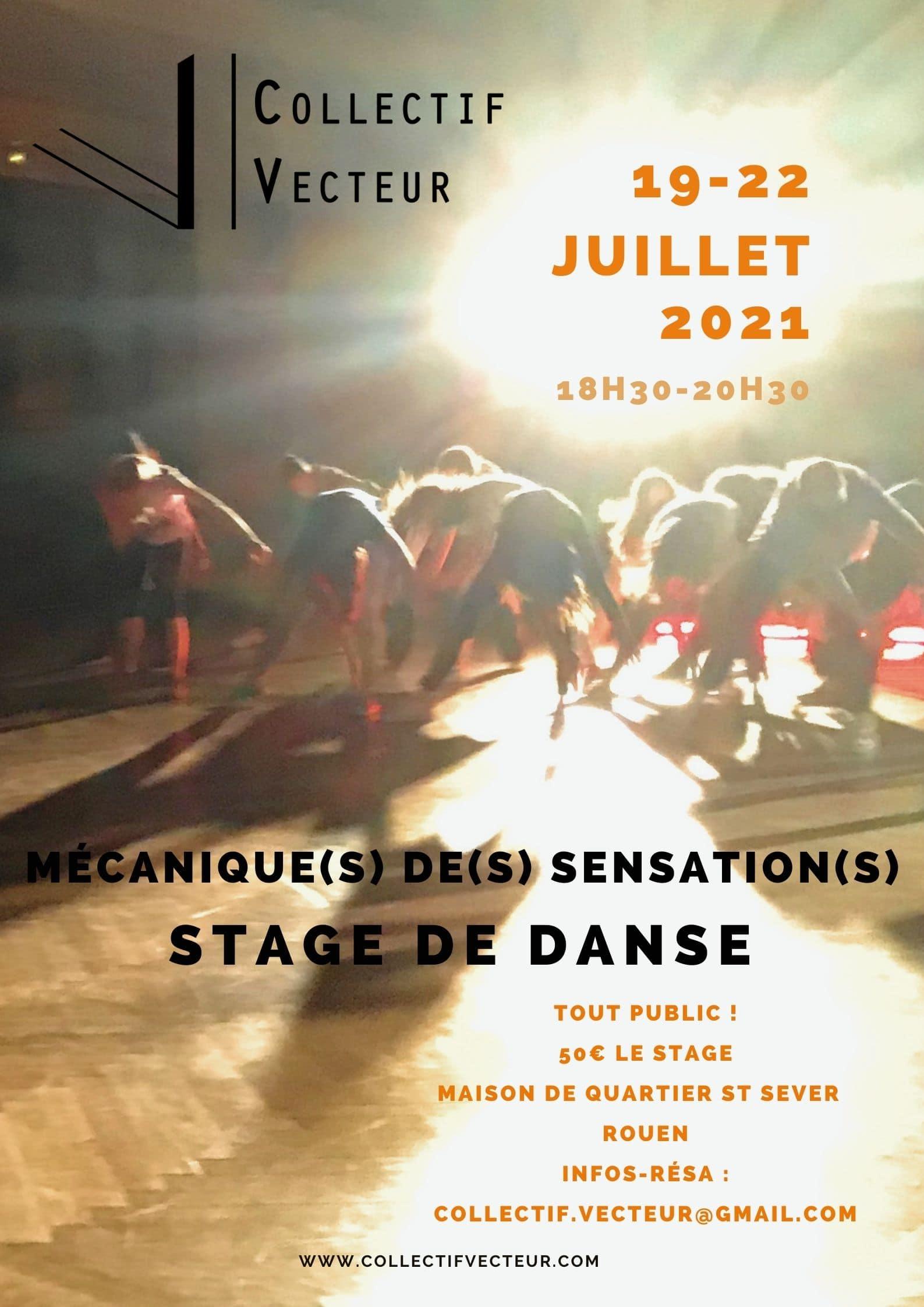 remous danse été stage ateliers collectif vecteur rouen affiche normandie