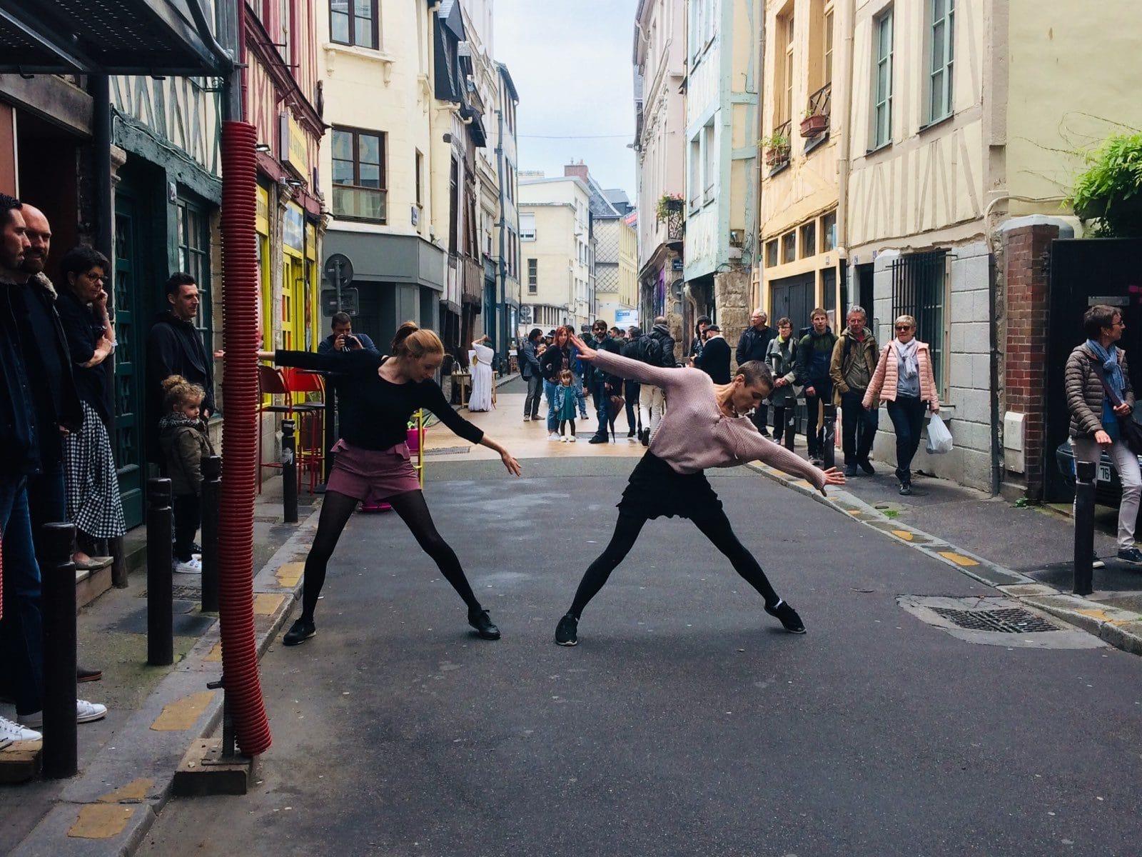 danse rue du jazz collectif vecteur rouen
