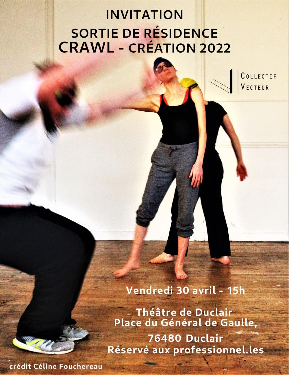 résidence création crawl invitation duclair danse